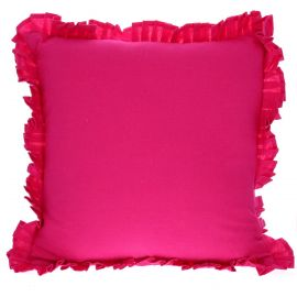 KISS LOVE FROM - Coussin rose fuchsia
