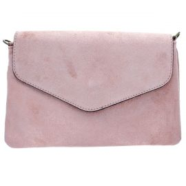 Pochette en cuir rose Madame Gracienne
