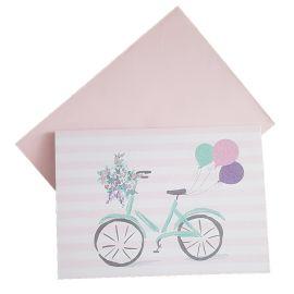 Carte d'anniversaire vélo et ballons