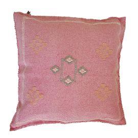 Coussin soie de cactus rose