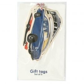 6 étiquettes cadeaux transports