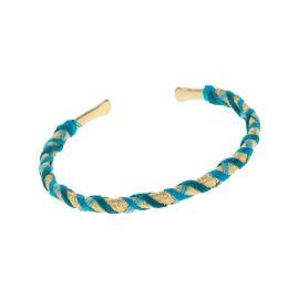 Bracelet jonc indien or et bleu