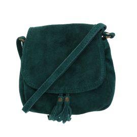 sac vert à pompons