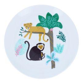 Assiette en céramique jungle