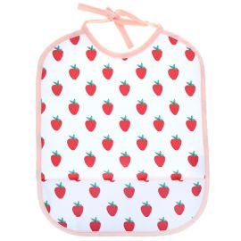 Bavoir toile ciree fraises