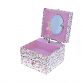 Boite a bijoux tiroir rose