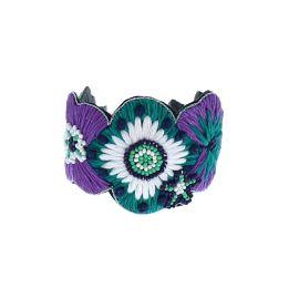 Bracelet fleurs violettes