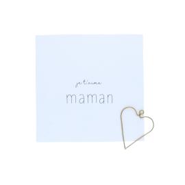 Carte Je t'aime Maman