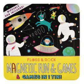 Coffret multi-jeux magnets Espace