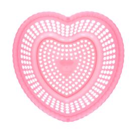 Corbeille coeur rose
