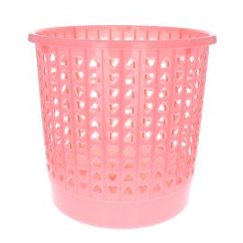 Corbeille à papier rose pastel