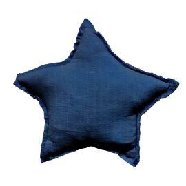 Coussin étoile bleu foncé