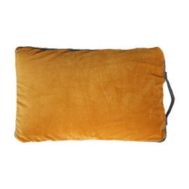 Coussin Cabana 40x60 velours moutarde