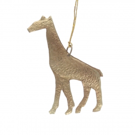 Girafe en laiton