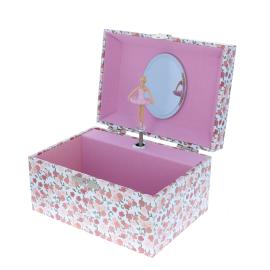 Grande boite a bijoux danseuse rose
