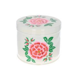 Grande boite cylindrique creme