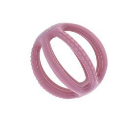 Hochet silicone rose