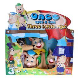 Jeu de marionnettes les 3 petits cochons