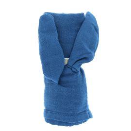 Petit lange lapin bleu 70x70