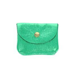 Petit porte carte vert pailleté