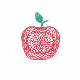 Petit panier pomme rouge