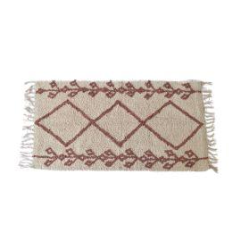 Petit tapis berbere marron et blanc