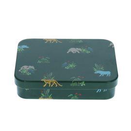 Petite boîte métallique animaux de la savane