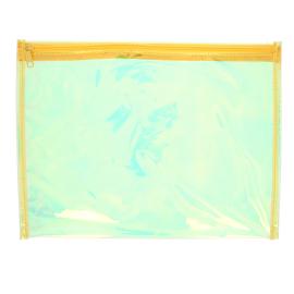 Pochette transparente jaune irisée