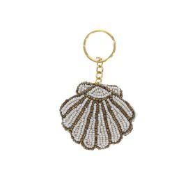 Porte-clé perles coquillage