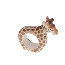 Rond de serviette en bois girafe