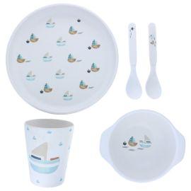 Set de vaisselle bateaux