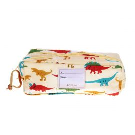 Trousse double zip dinosaures